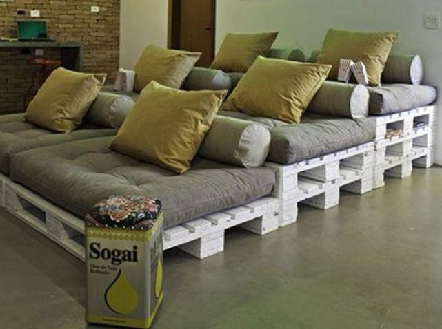 DIY : 12 inspirations pour un meuble en palette | Cinema, Pallets ...