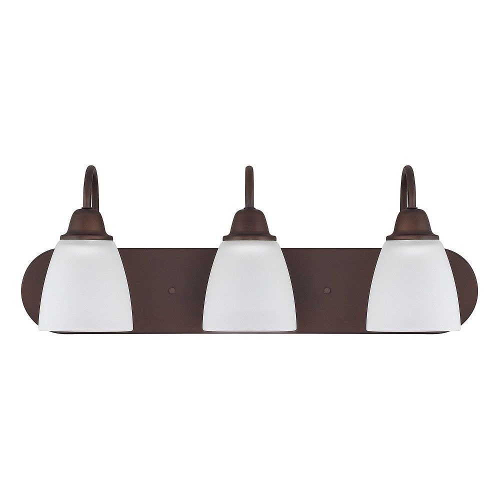 "Photo of Capital Lighting 115131-337 Trenton 3 Light 24 ""Wide Bathroom Basin Light – Bronze"