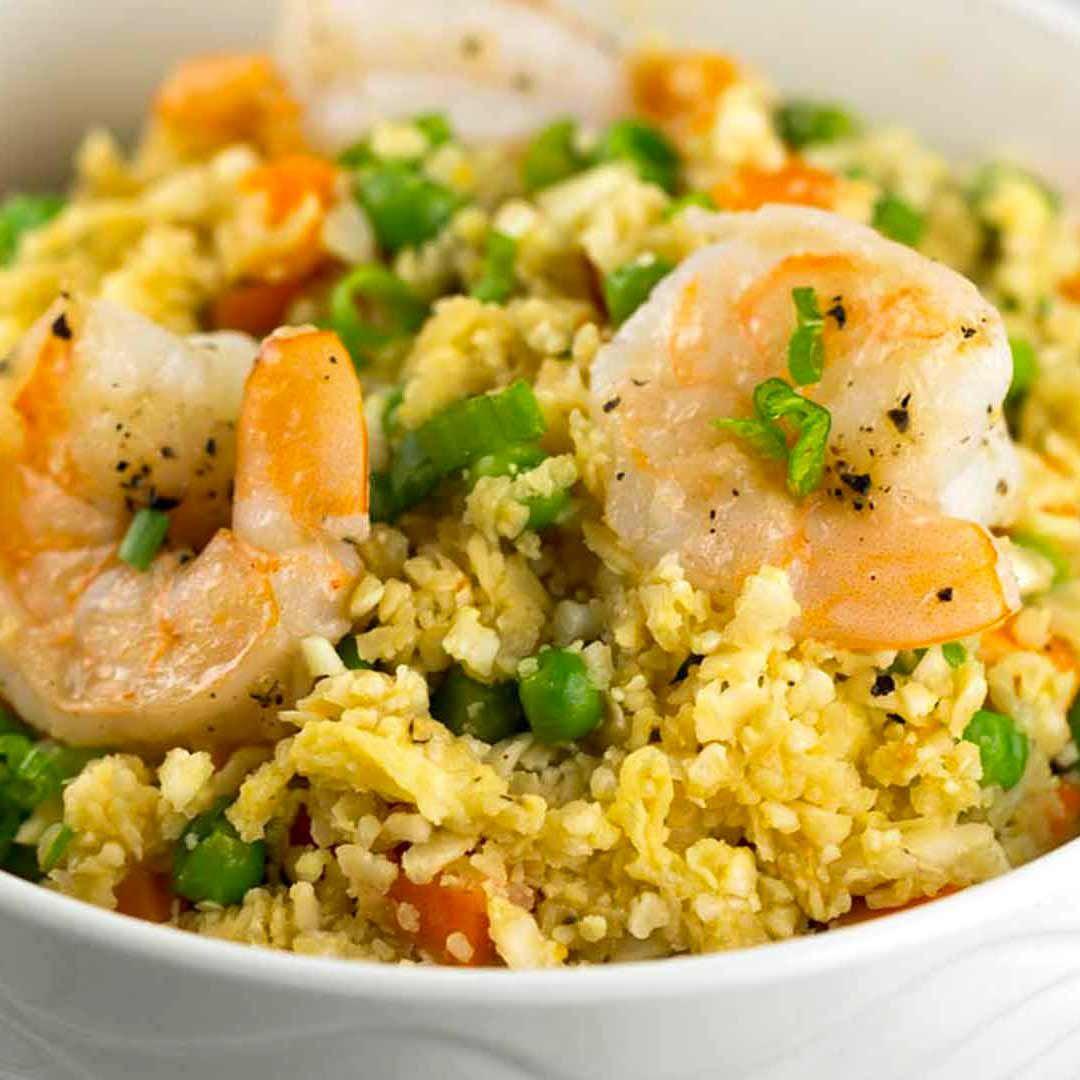 Photo of Healthy Shrimp Fried Cauliflower Rice Bowl – Jessica Gavin