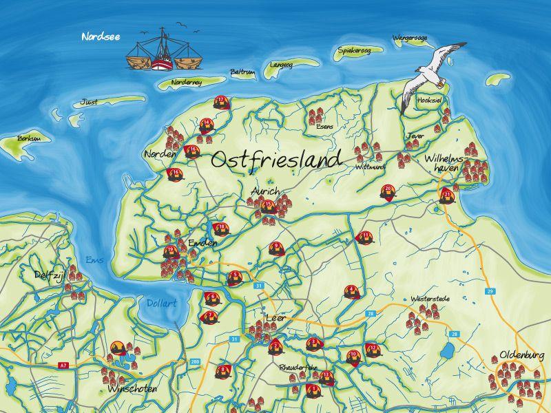 Bildergebnis Fur Ostfriesland Karte Karten Ostfriesland