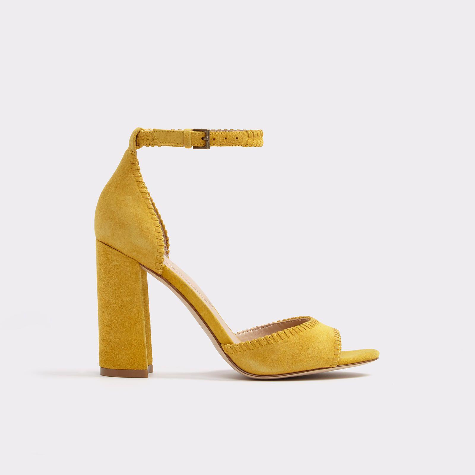 e1ba38f20 Pops of yellow (Elvyne Mustard Women's Block heels | ALDO US ...