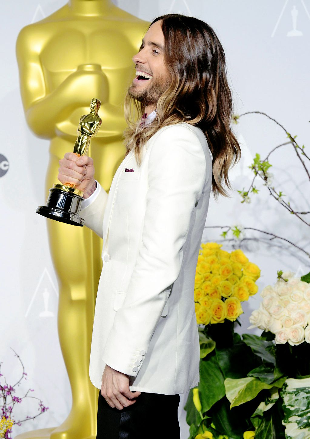 Backstage at the 86th Academy Awards