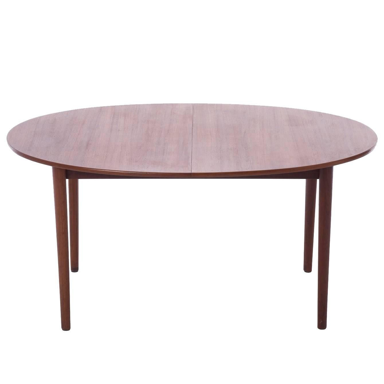 Danish Modern Oval Ellipse Dining Table With Two Leaves Stuff For - Modern oval dining table with leaf