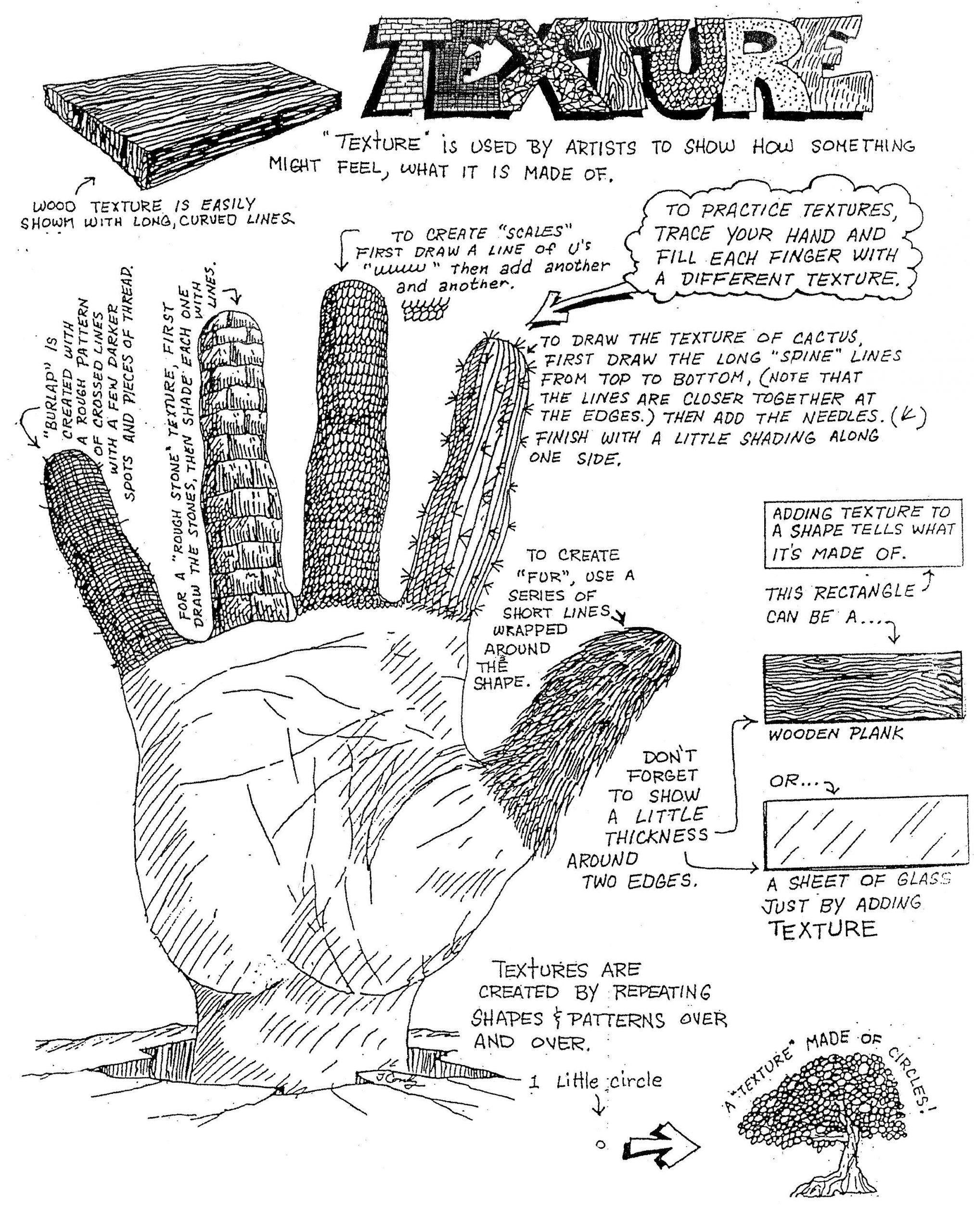 Texture Worksheet For Kindergarten Monsters Paw Prints