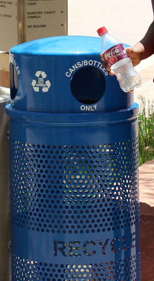 Landscape Series Outdoor Recycling Receptacle Ex Cell Kaiser Recycling Containers Recycling Reduce Reuse Recycle