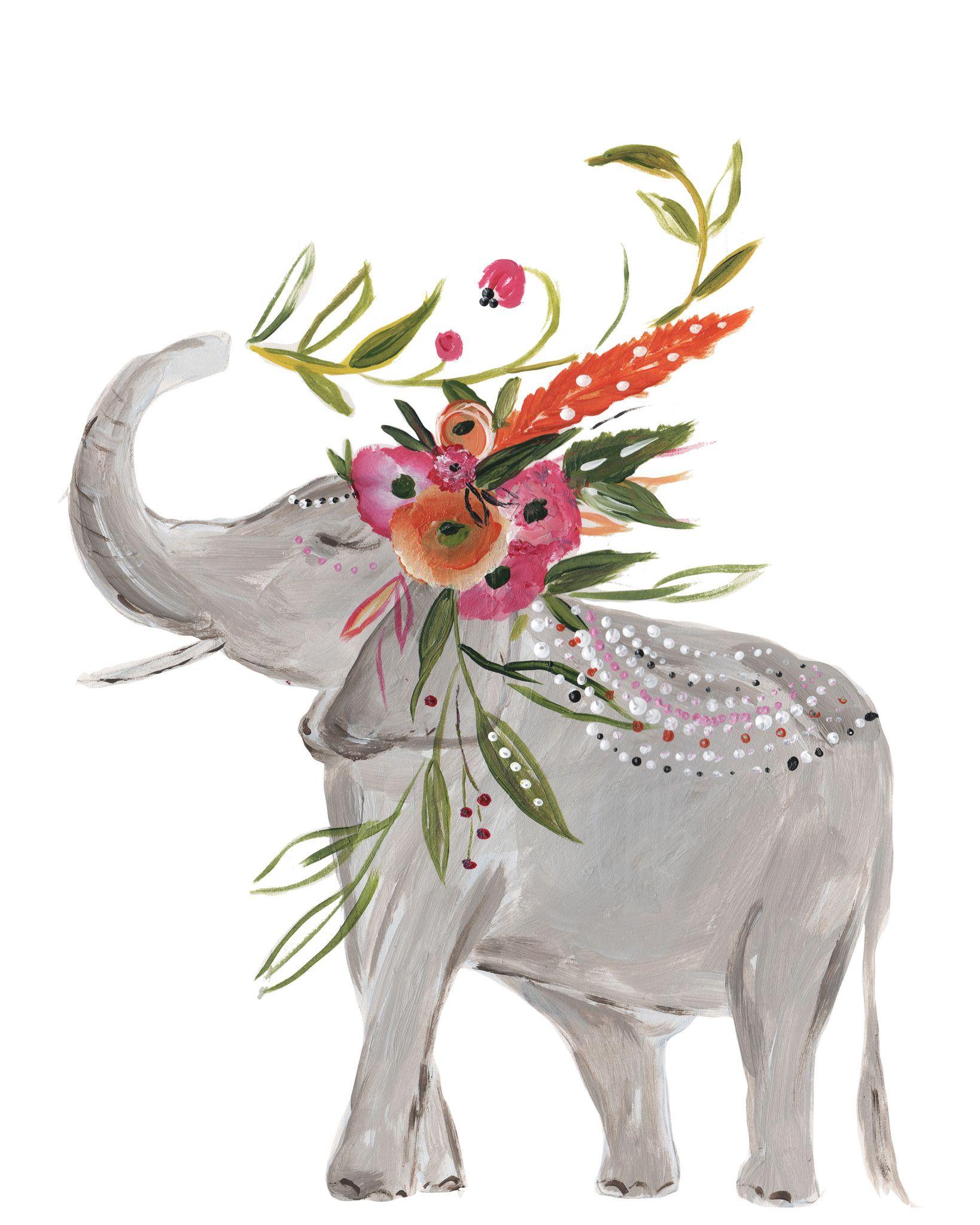 Boho elephant art print in 2018 india apartment decorating inspiration pinterest art - Dessin elephant ...