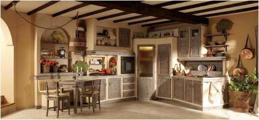 Cucine in finta muratura - Cucina in legno