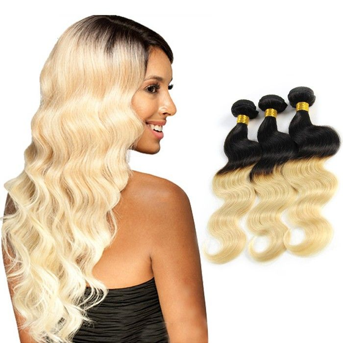 Ombre Body Wave Unique Indian Remy Human Hair Weave Two Tone 1b