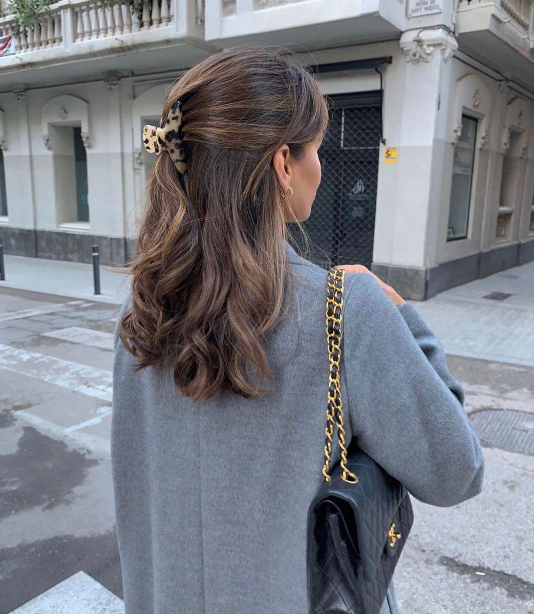 Tortoiseshell Hair claw clip - Minimalist curves claw clip