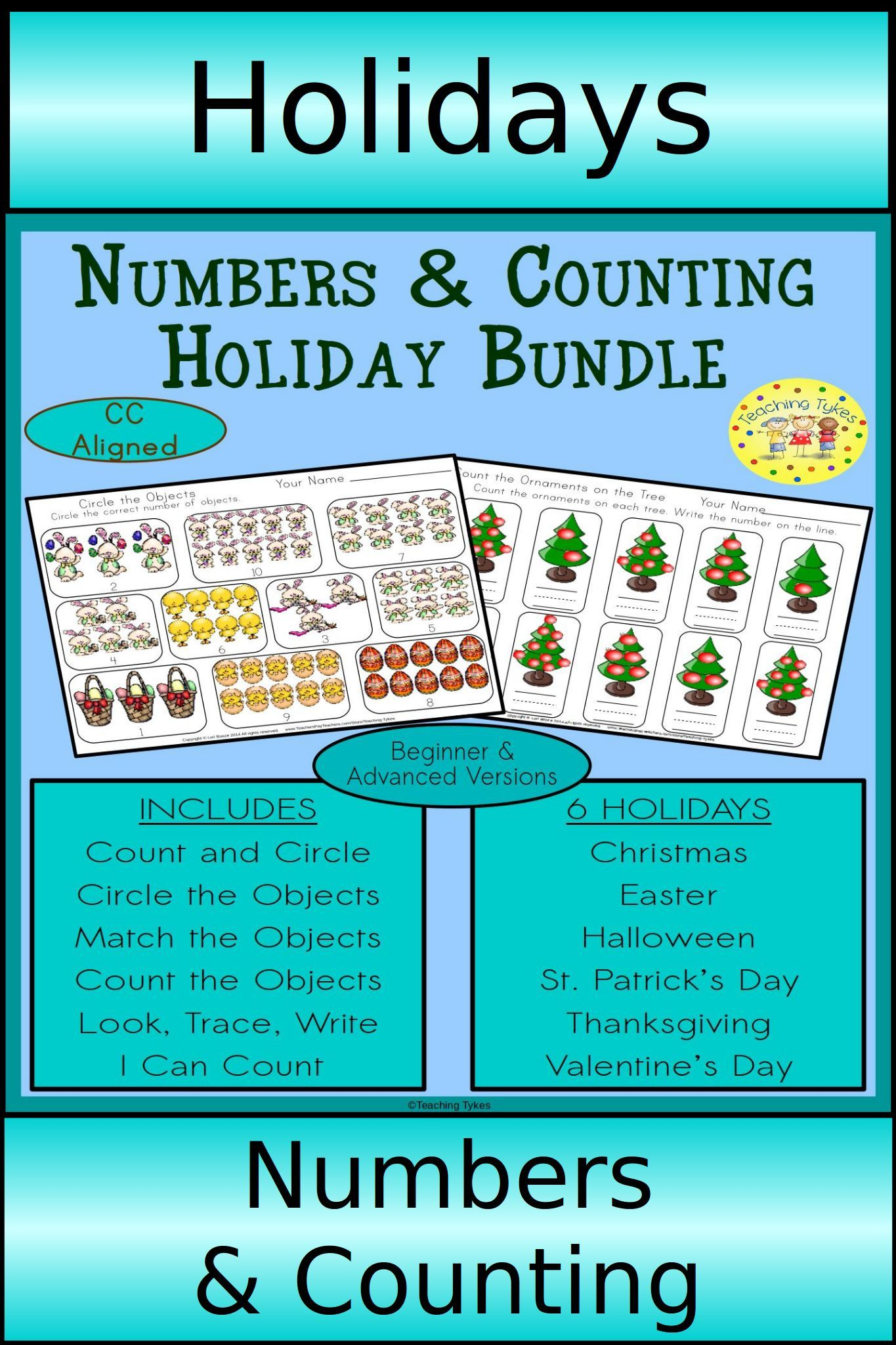 Holidays Numbers And Counting Bundle