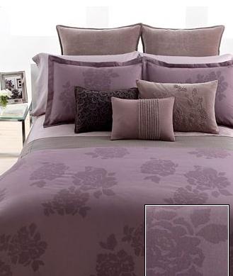 Vera Wang Bedding Purple Floral Bouquet King Duvet
