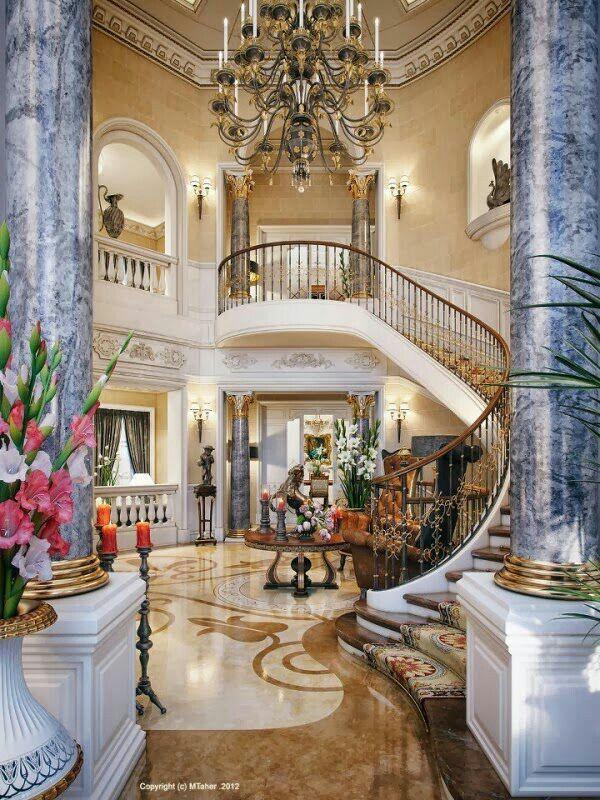 Villa de Lujo en Qatar Beautiful Rooms Pinterest Escaliers - escalier interieur de villa