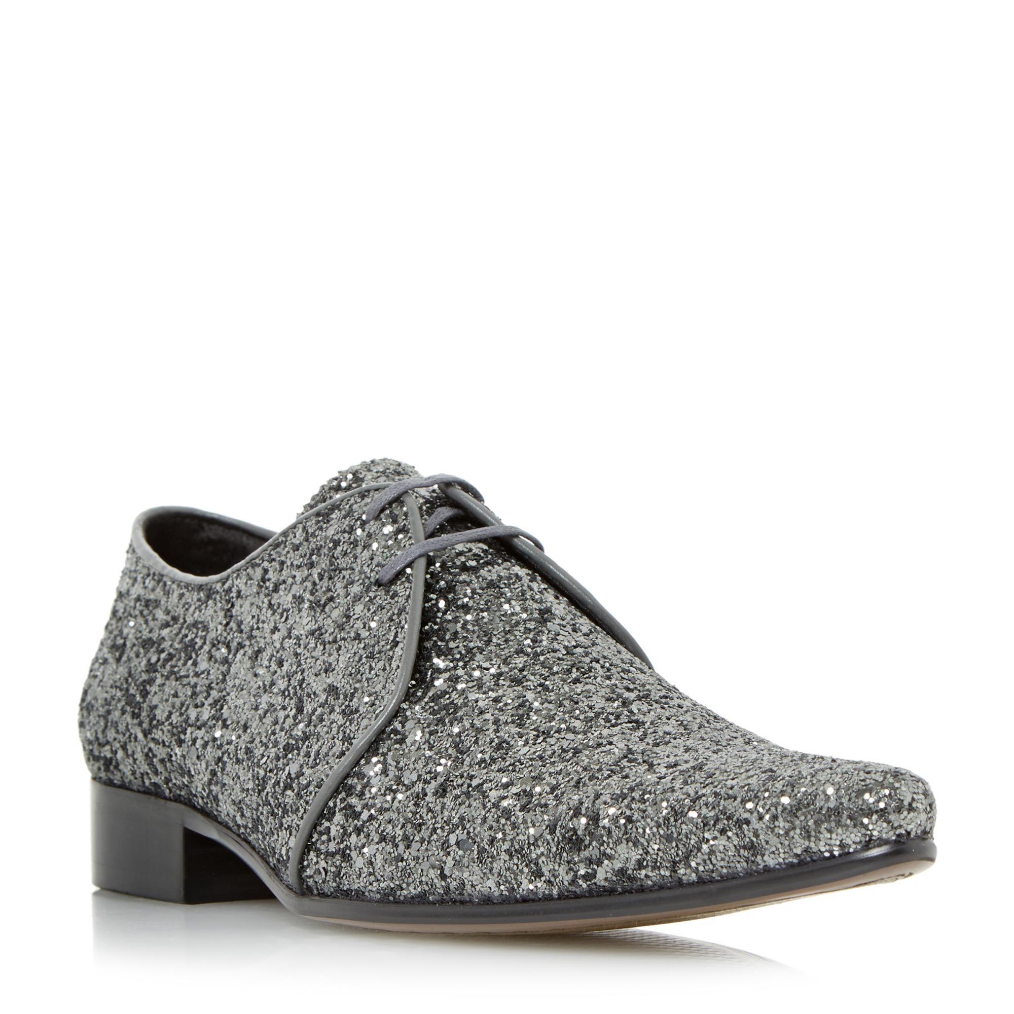 b48edb2ac3e4 DUNE MENS RICKY M - Glitter Derby Shoe - silver