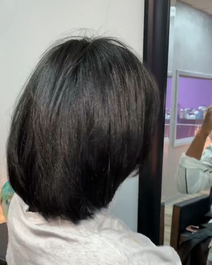 Blowout and cut on natural hair 🥰 @hairbykiyagee 💜