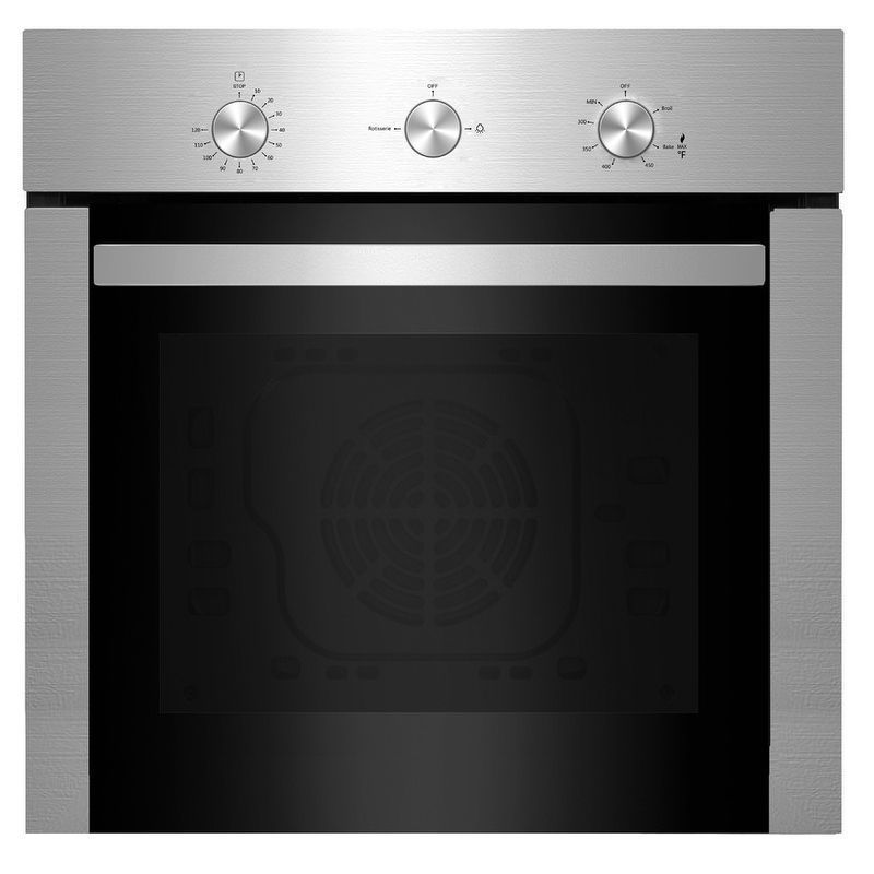 Empava 24 Stainless Steel Silver Gas Single Wall Oven 58d