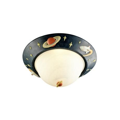 One possibility for lighting we have in storage a super cool glow in the dark rocket ship 14 wide ceiling light 99879 lamps plus aloadofball Images