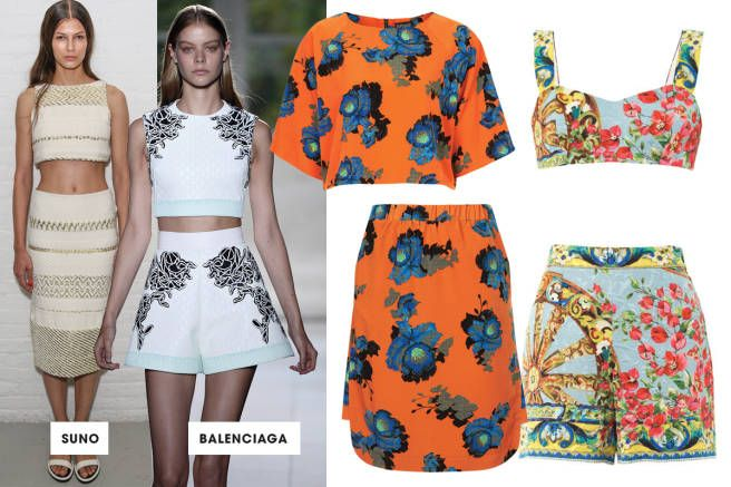 TREND: RETRO  Spring 2014 Trends - Designer Pairs - ELLE - matchy match play suits