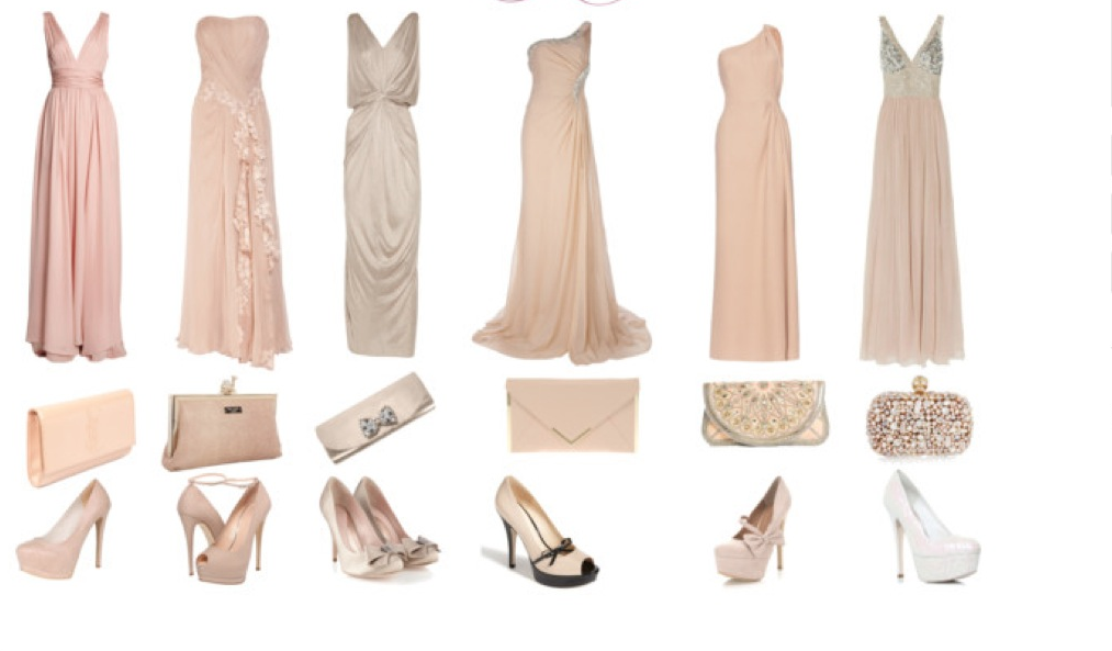 long neutral bridesmaids dresses (all different) | What ...