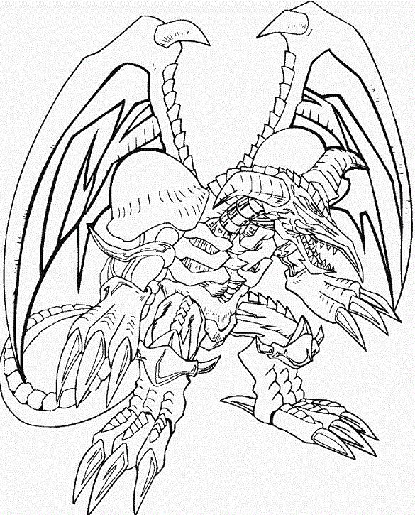 Yu Gi Oh Black Skull Dragon Coloring