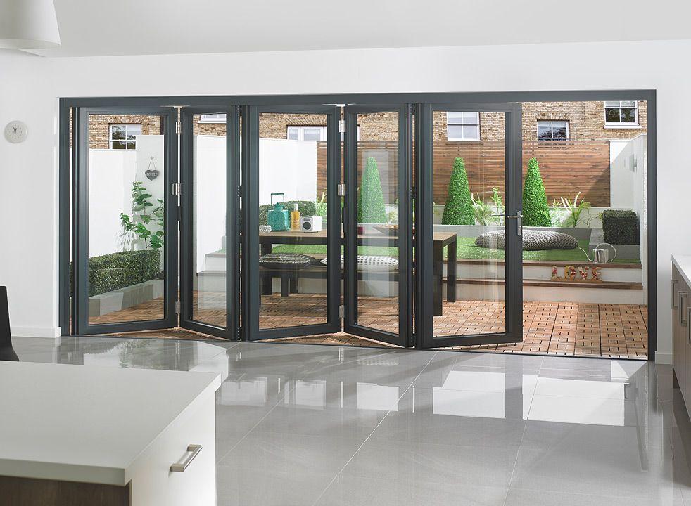 Supreme Range - White/Grey Aluminium Bifolding Doors » Vufold & Supreme Range - White/Grey Aluminium Bifolding Doors » Vufold ...