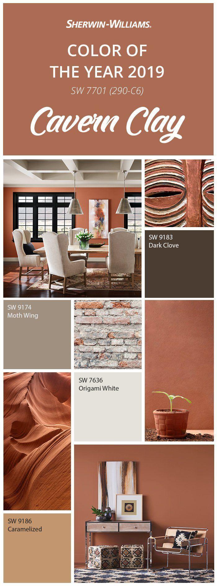 Erdtöne und endlose Horizonte  lernen Sie Sherwin-Williams 2019 Color kennen #livingroompaintcolorideas