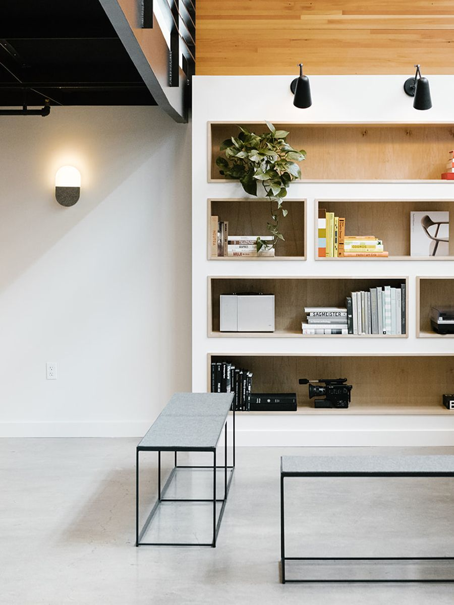Bright Open Office Library Space   Casework Interior Design   Portland, OR