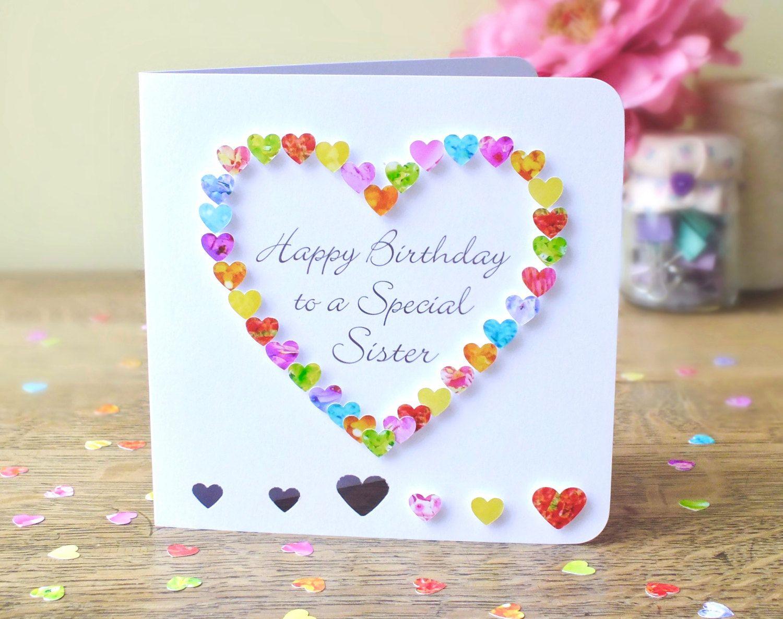 Sister Birthday Card Handmade Birthday Card for a