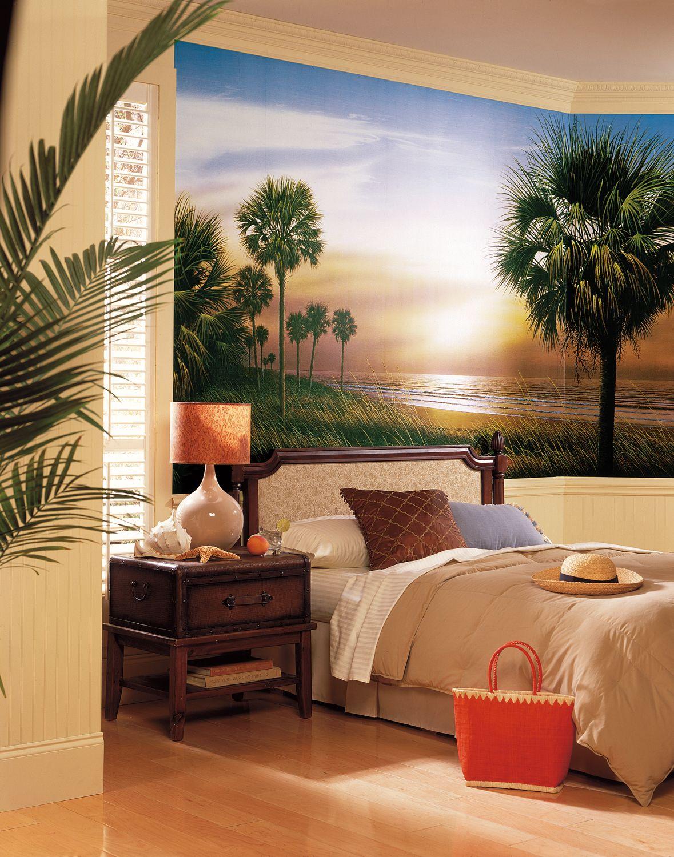 Palm Tree PrePasted XL Wallpaper Mural Tree wall murals