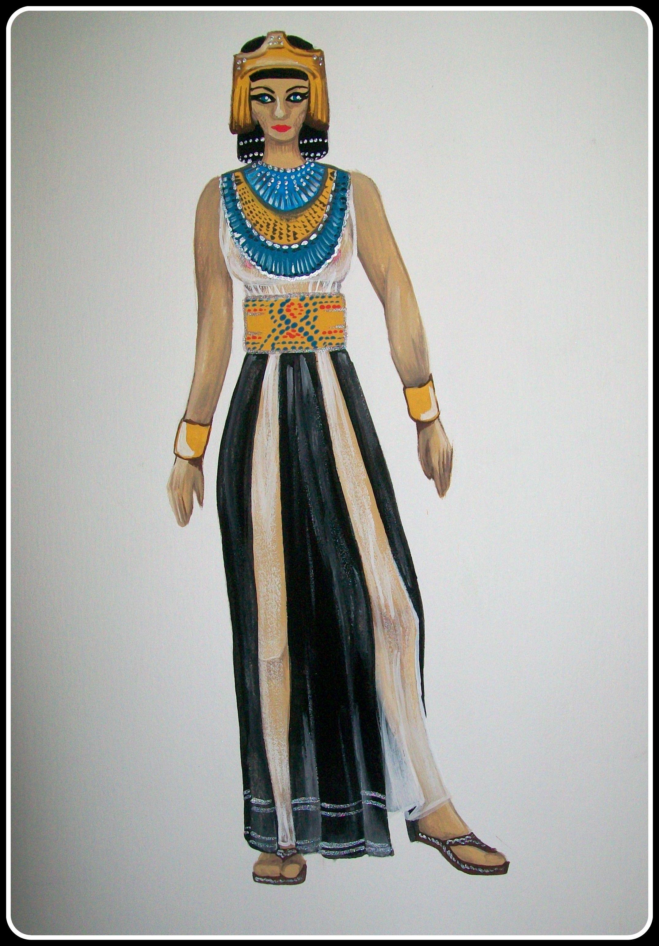 a1f2c1f31c Período Egipcio- Vestuario femenino