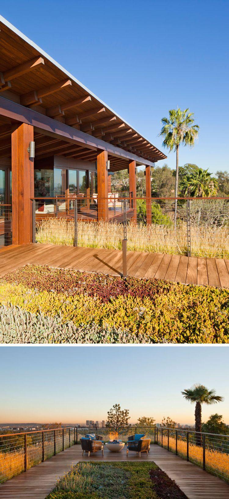 holz aussen outdoor holzdeck terrasse pflanzen aussicht