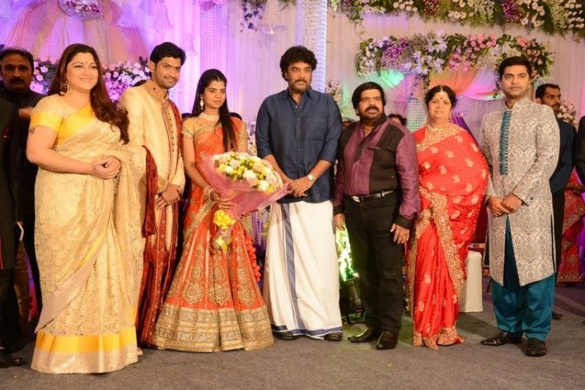 Sundar C And Kushboo At Simbu Sister Marriage Reception Marriage Reception Wedding Venues India People