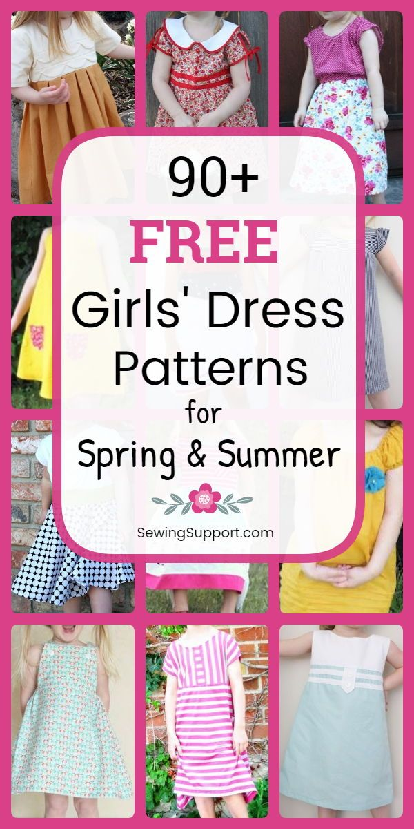 90+ Free Girls' Dress Patterns