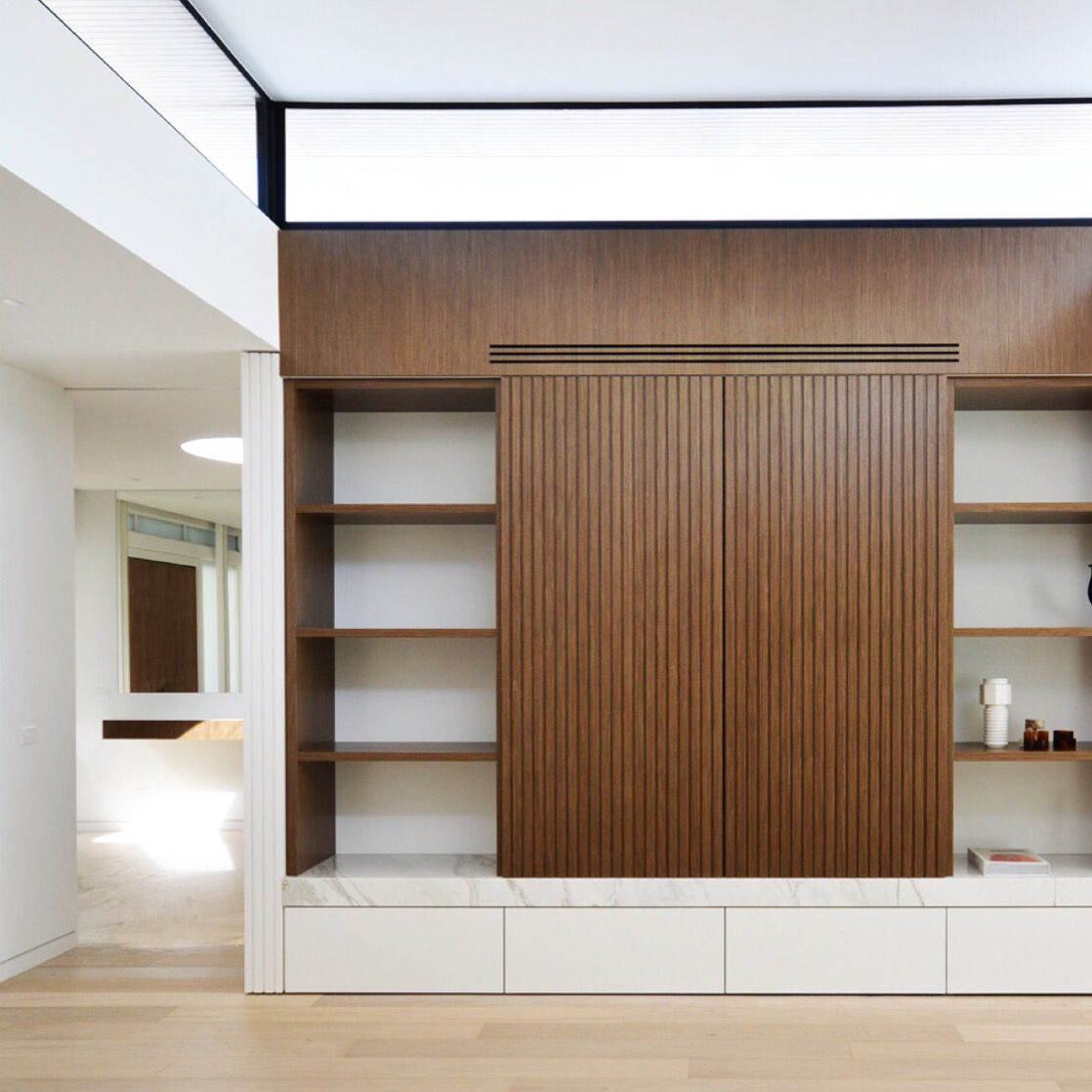 Living room joinery. Architectural pop up designed by Ben ...