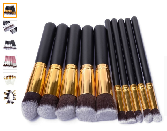 Free Shipping 10pcs/set Professional Makeup Brushes Set