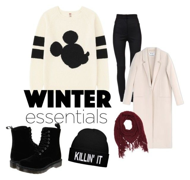 """Winter's coming? No problem"" by fioretta-29 ❤ liked on Polyvore featuring Uniqlo, Dolce&Gabbana, Acne Studios, Charlotte Russe and Dr. Martens"