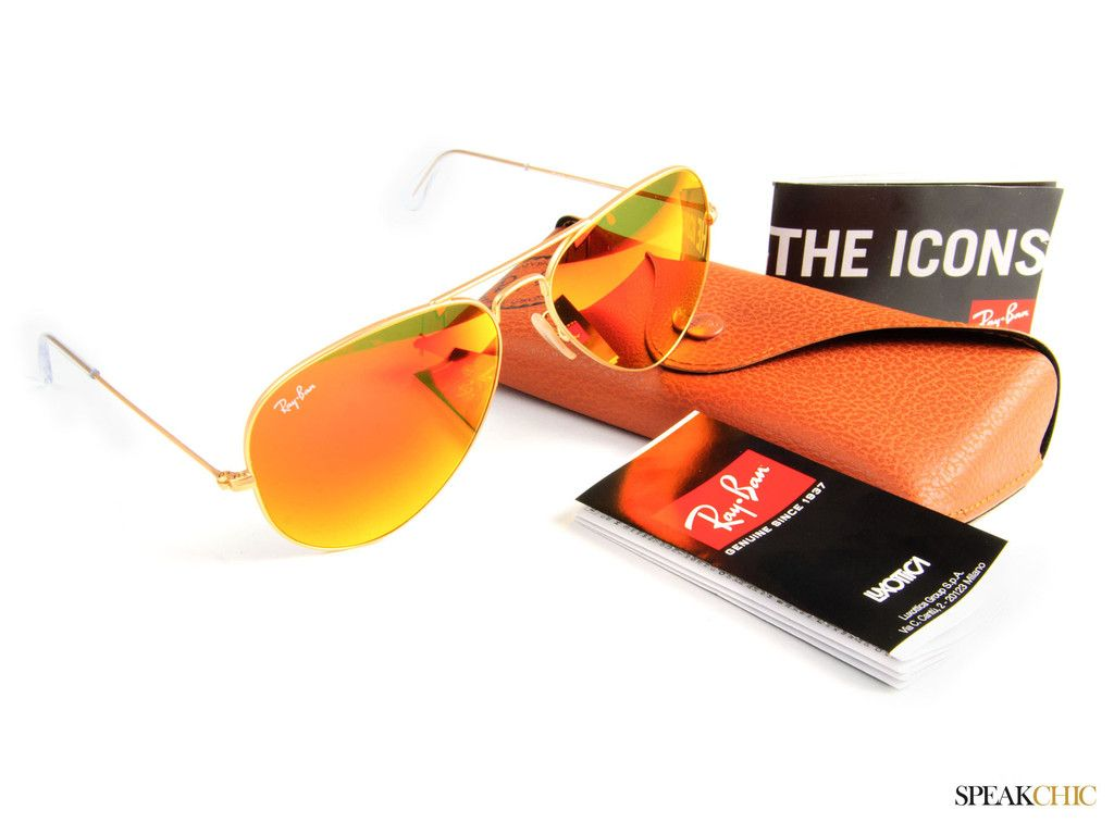 ray ban aviator naranja
