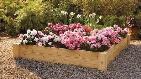 4X4 Foot Raised Flower Bed Cedar Raised Garden Beds 640 x 480