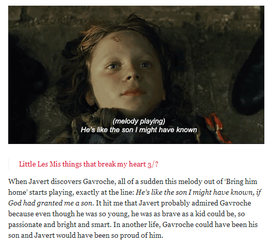 Quot And I Have This Theory That Javert Saw Himself As A Young