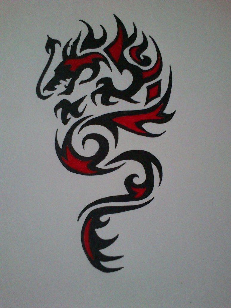Photo of Tribal Dragon Tattoo 1 von devildarkhead auf DeviantArt