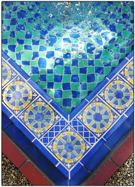 Decorative Pool Tile Brilliant Return To Album  Home Stuff  Pinterest  Fountain Moorish And Design Decoration