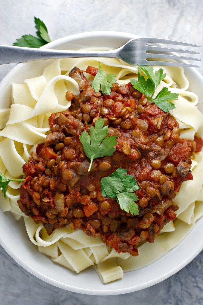 Crock Pot Lentil Bolognese Vegan