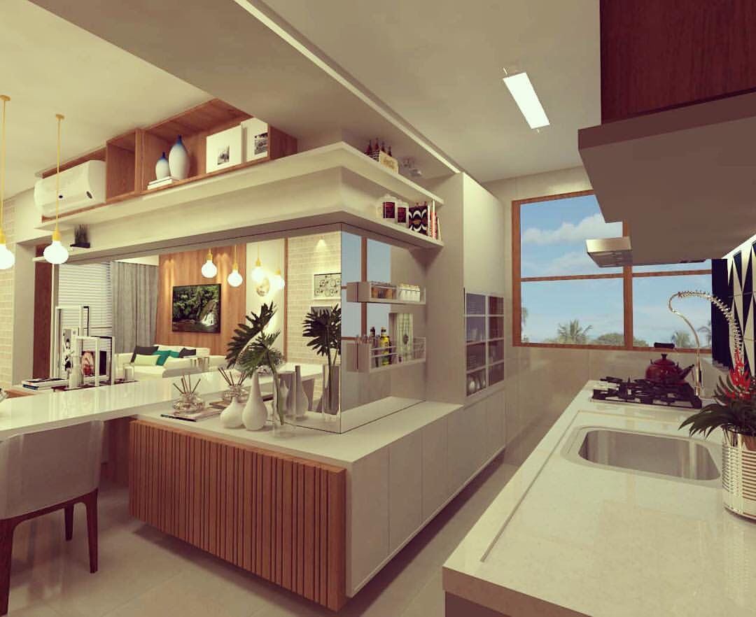 Cozinha Integrada By Mar Lia Zimmermann Meus Projetos Pinterest