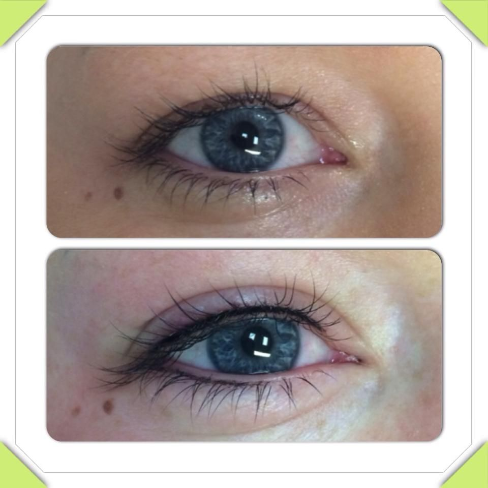 eyelash enhancement before and after permanant make up