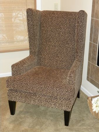 Wing Back Leopard Chairs Leopard Print Wing Back Chair Brown