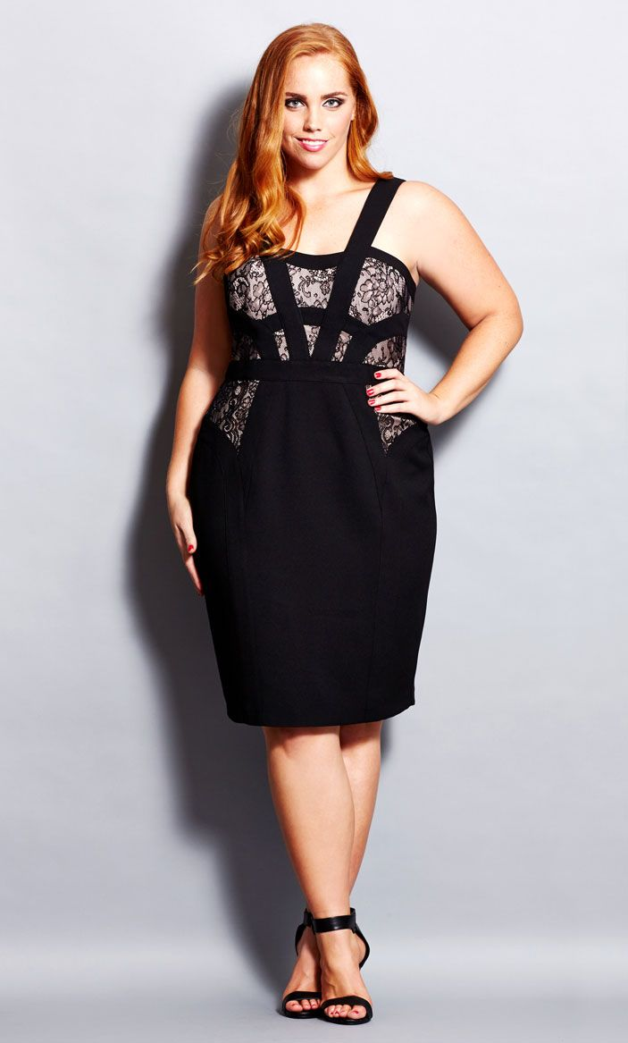 City chic addiction dress women 39 s plus size fashion for Chic and curvy wedding dress