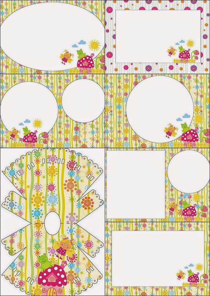 Enchanted Garden Free Printable Invitations. Free