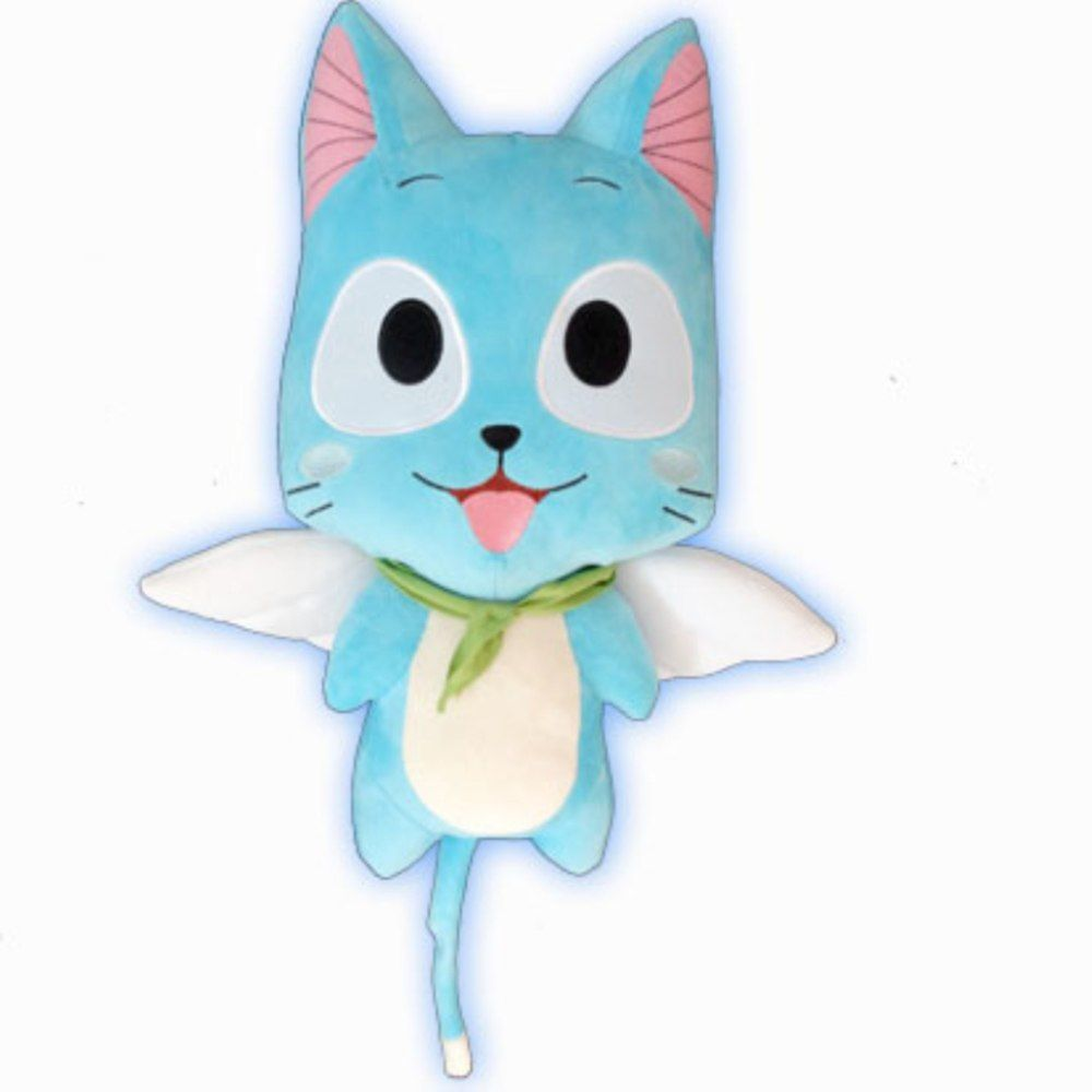 Tail Anime Cartoon Happy Happy Cute Blue Cat Plush Toys Plush Toys