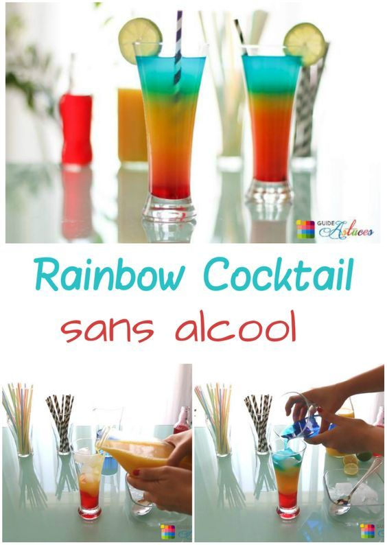 Cocktail rainbow recette sans alcool