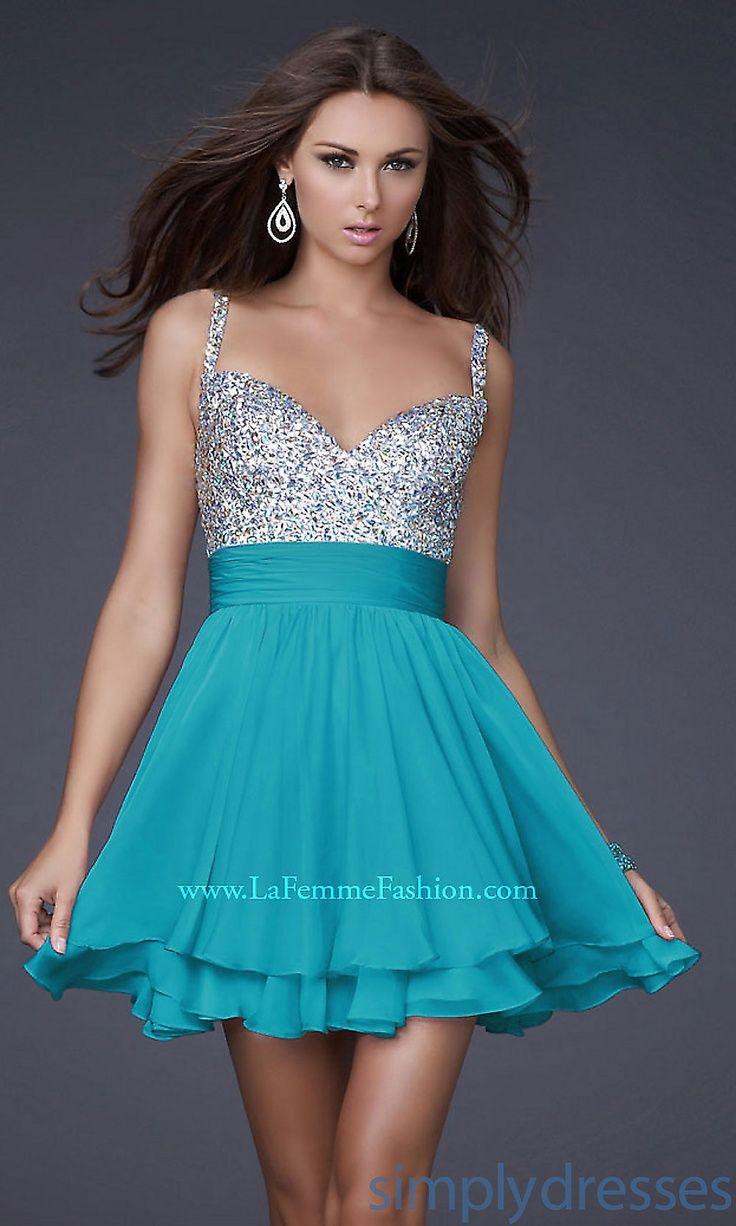 Dress, White Graduation Dress by La Femme  Simply Dresses  tiffany blue wedding   Big Fashion Show white graduation dresses