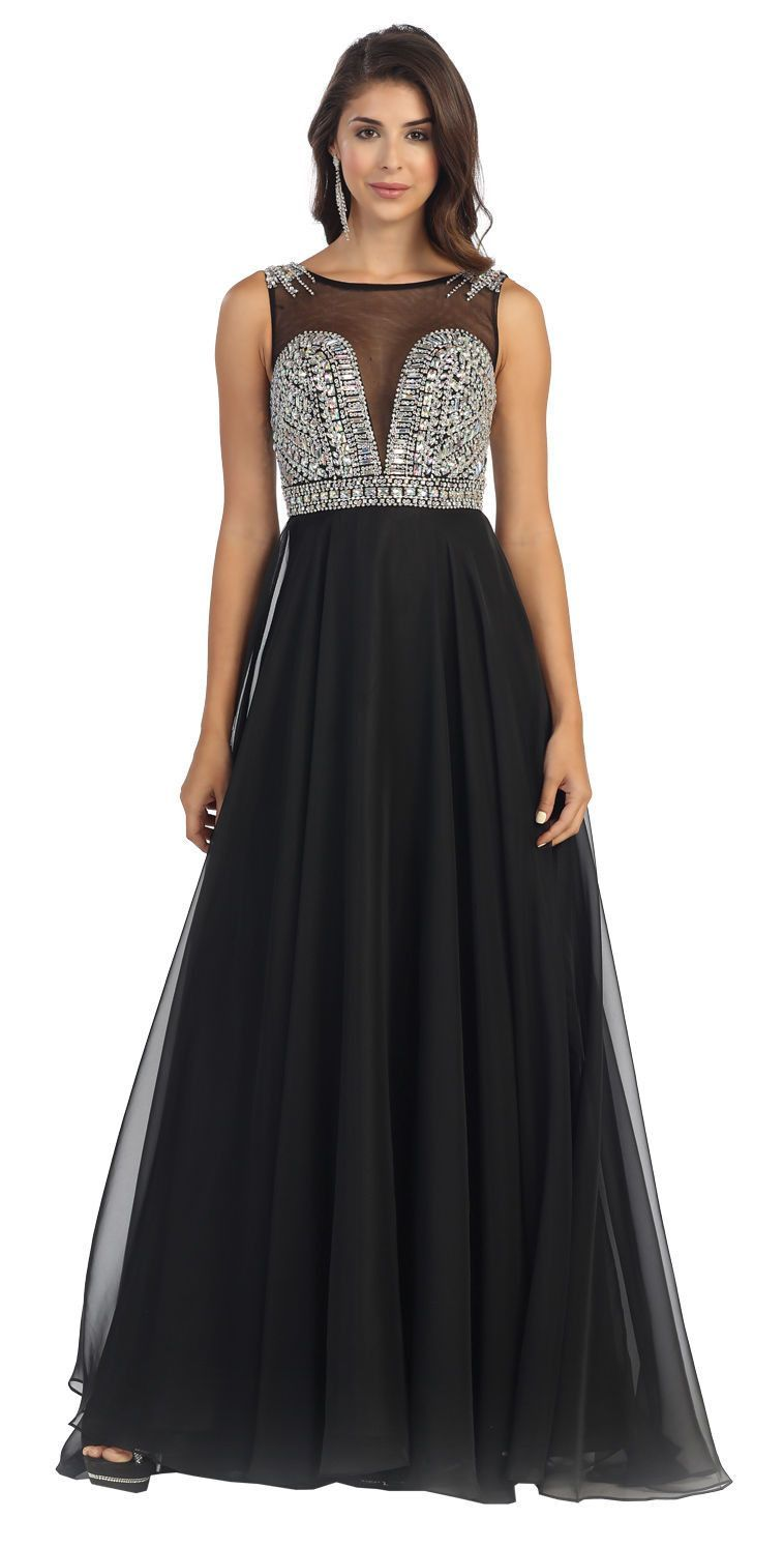 Long Sleeveless Prom Party Dress Formal Evening Gown